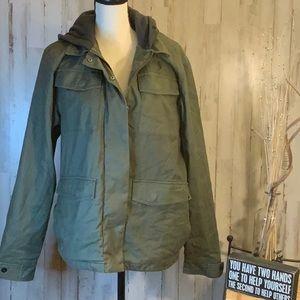 Lost size medium army green jacket/hood